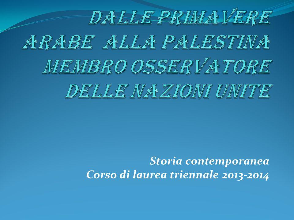Storia contemporanea Corso di laurea triennale 2013-2014