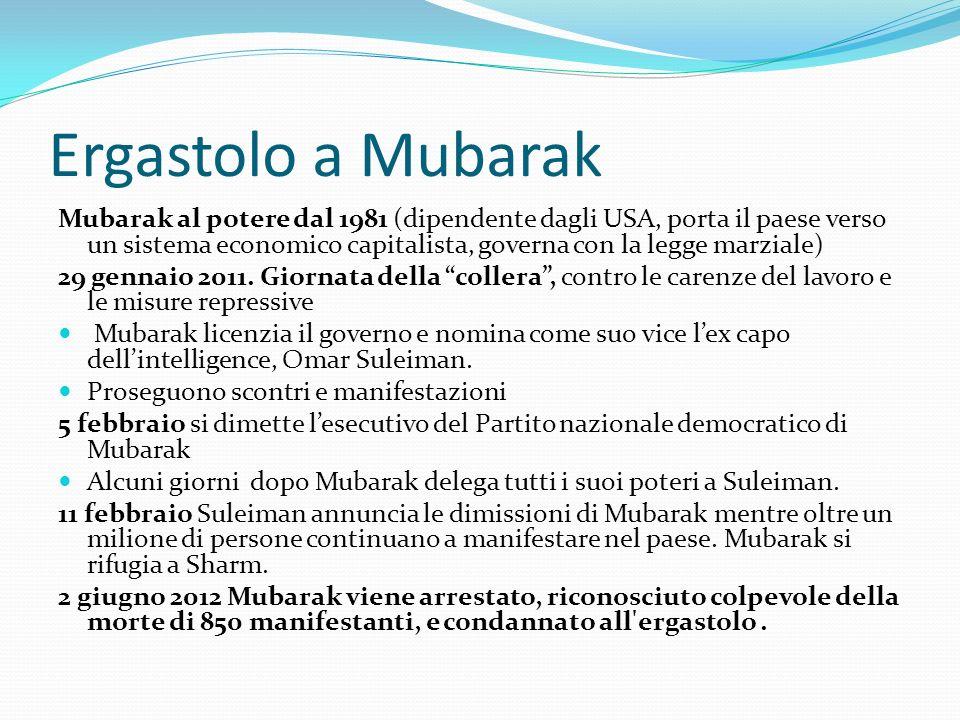 Ergastolo a Mubarak