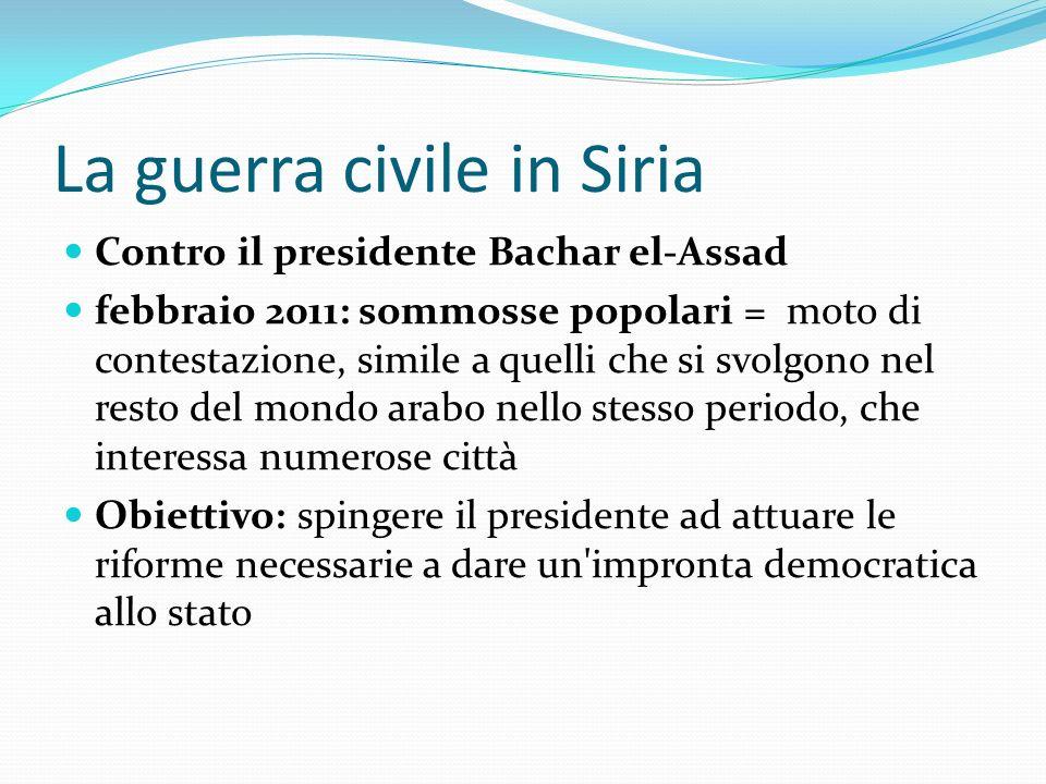 La guerra civile in Siria