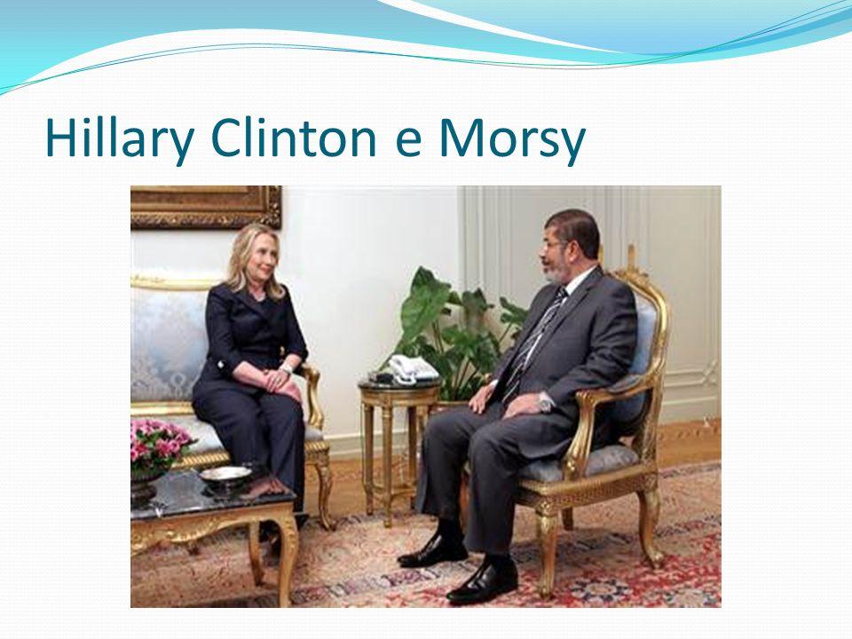 Hillary Clinton e Morsy