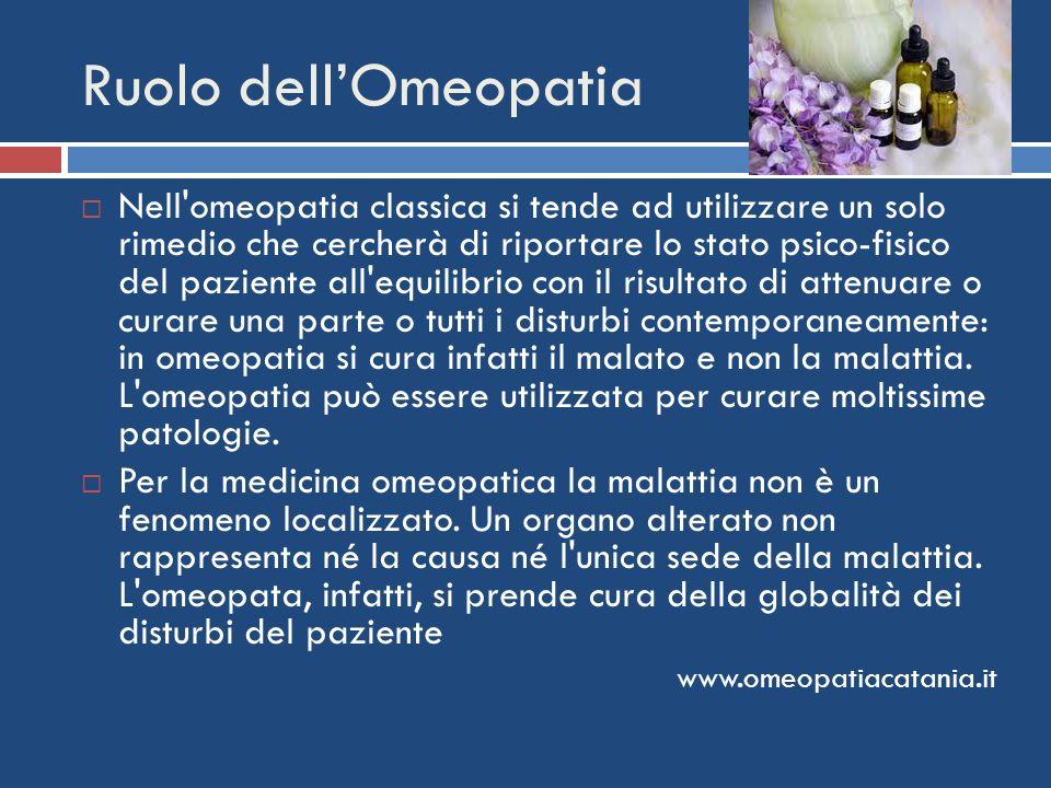 Ruolo dell'Omeopatia