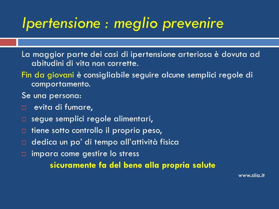 Ipertensione : meglio prevenire