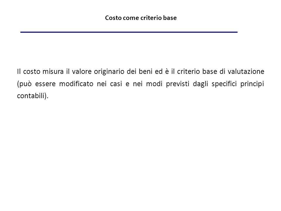 Costo come criterio base