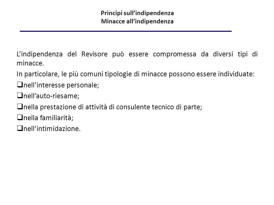 Principi sull'indipendenza Minacce all'indipendenza