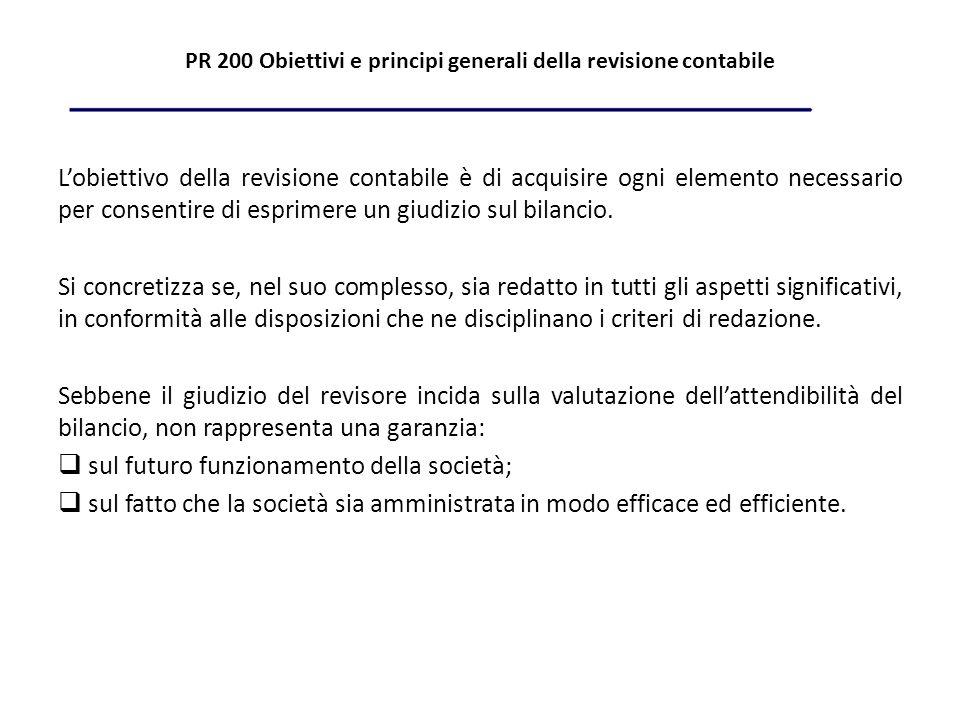 PR 200 Obiettivi e principi generali della revisione contabile