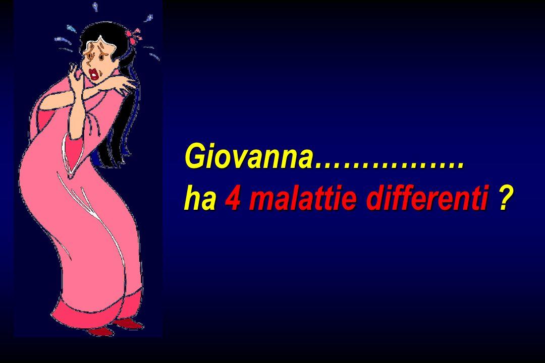 Giovanna……………. ha 4 malattie differenti