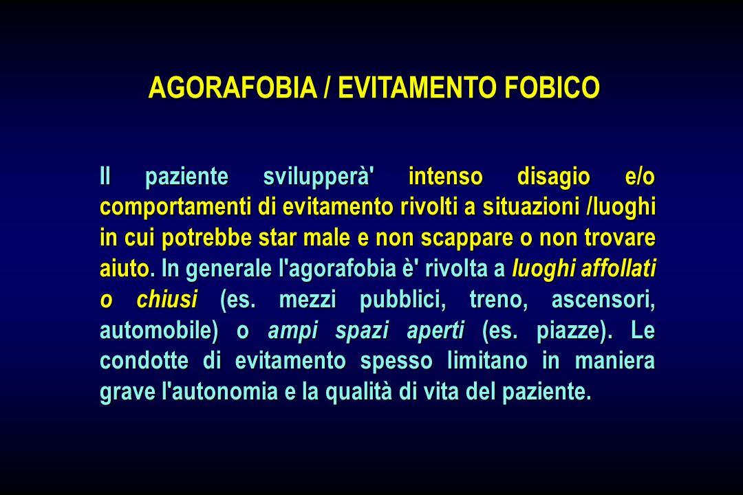 AGORAFOBIA / EVITAMENTO FOBICO