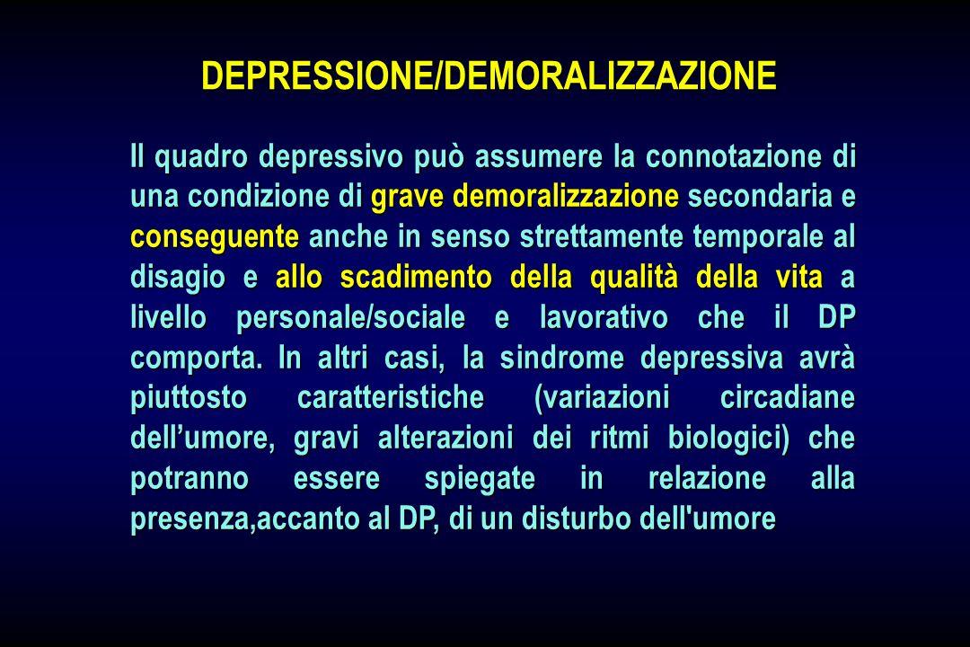 DEPRESSIONE/DEMORALIZZAZIONE