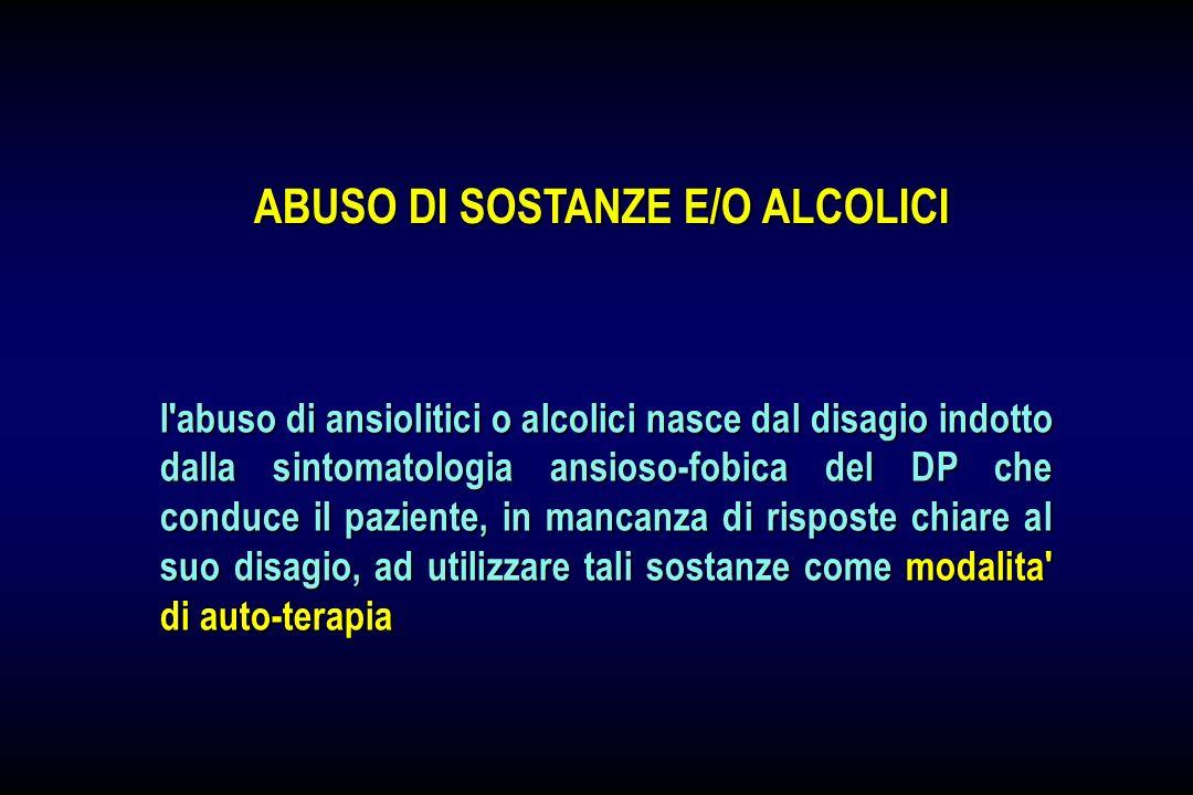 ABUSO DI SOSTANZE E/O ALCOLICI