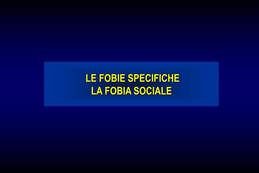 LE FOBIE SPECIFICHE LA FOBIA SOCIALE