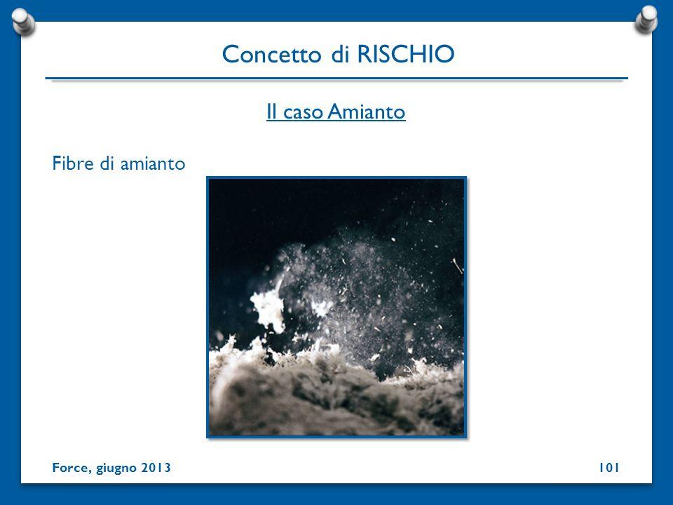 Concetto di RISCHIO Il caso Amianto Fibre di amianto