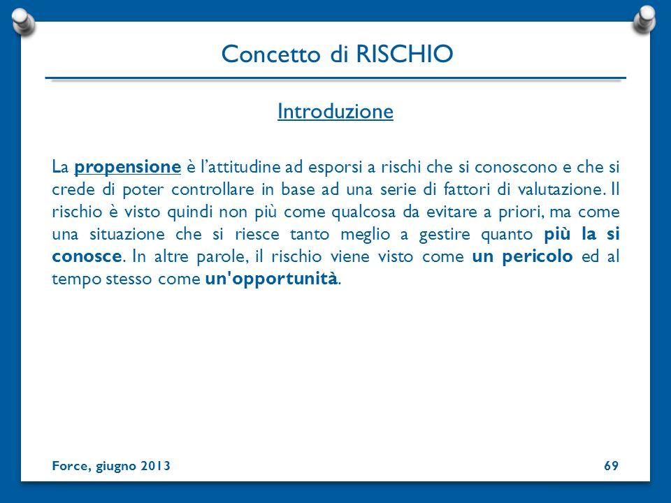 Concetto di RISCHIO Introduzione