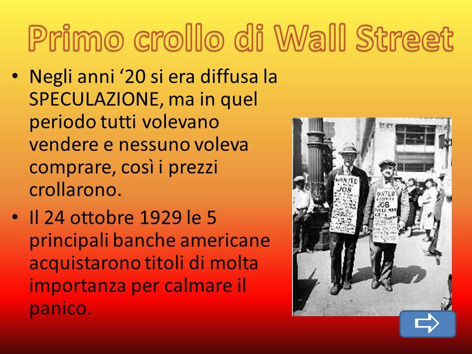 Primo crollo di Wall Street