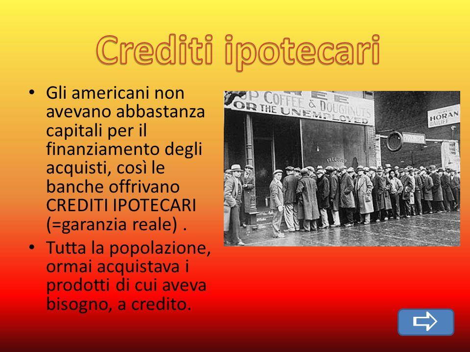 Crediti ipotecari