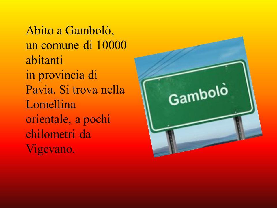 Abito a Gambolò, un comune di 10000 abitanti