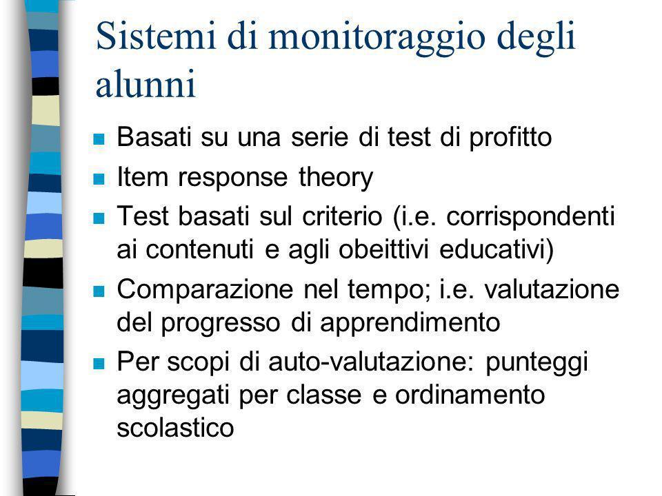 Sistemi di monitoraggio degli alunni