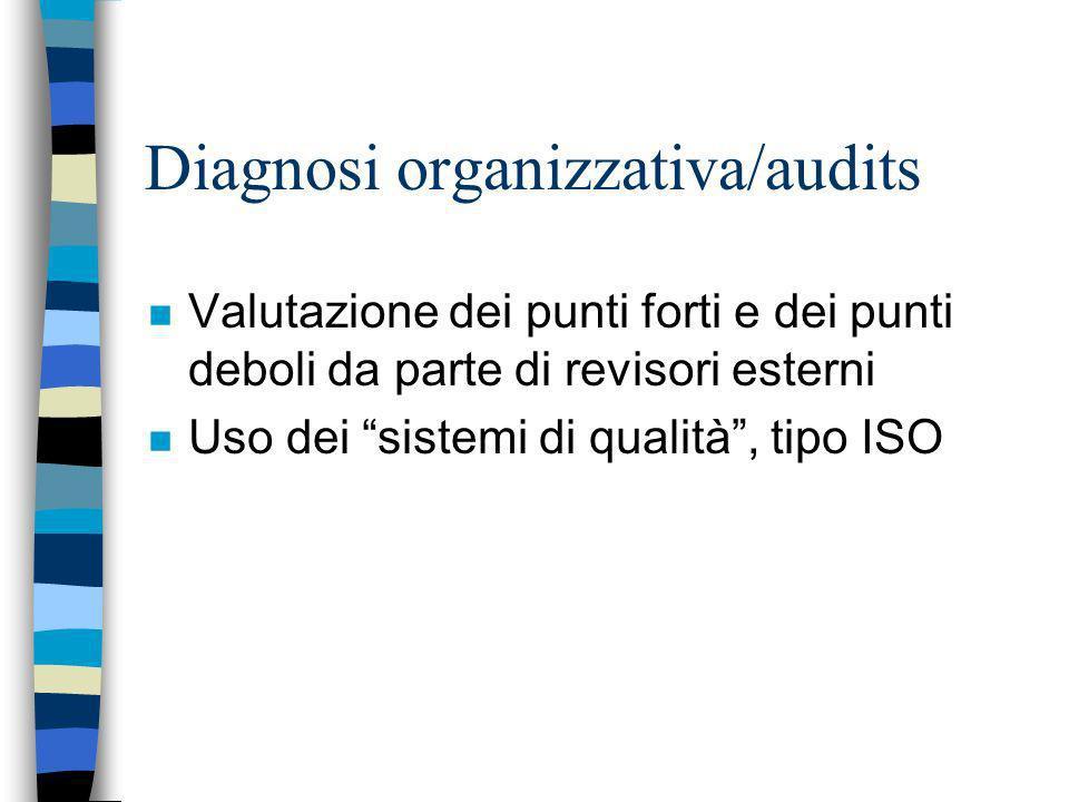 Diagnosi organizzativa/audits
