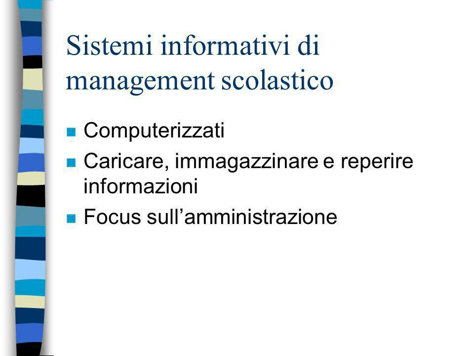 Sistemi informativi di management scolastico