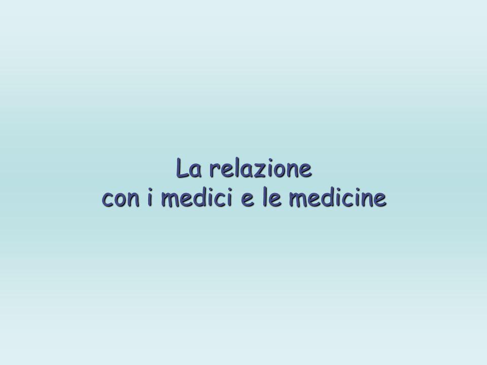 con i medici e le medicine