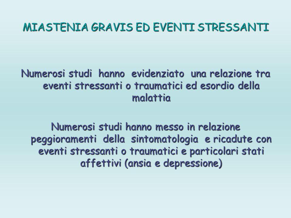 MIASTENIA GRAVIS ED EVENTI STRESSANTI