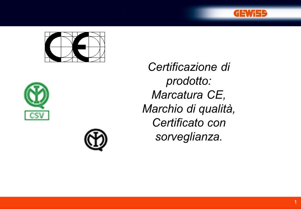 Certificazione di prodotto: Marcatura CE, Marchio di qualità,