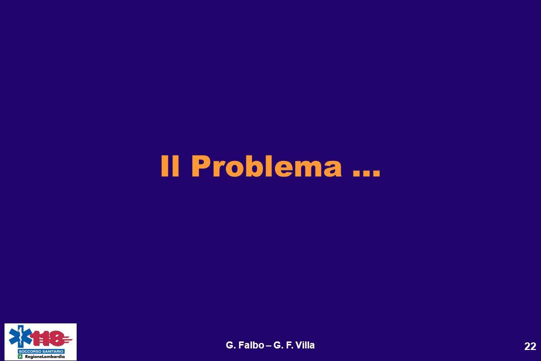 Il Problema ... G. Falbo – G. F. Villa