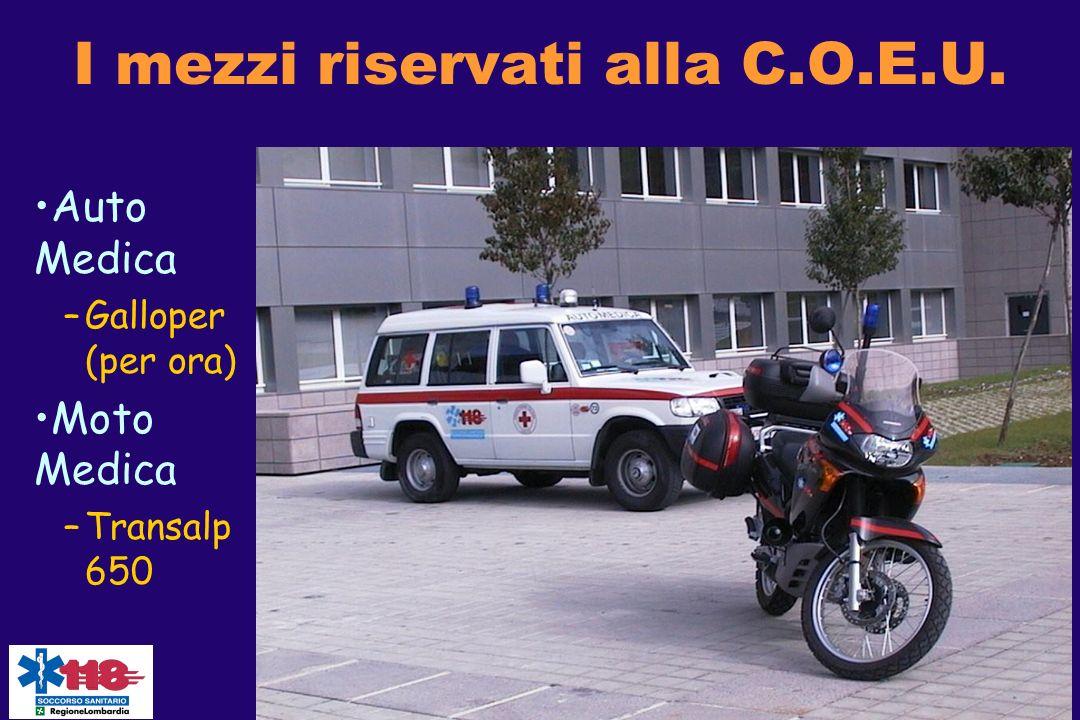 I mezzi riservati alla C.O.E.U.