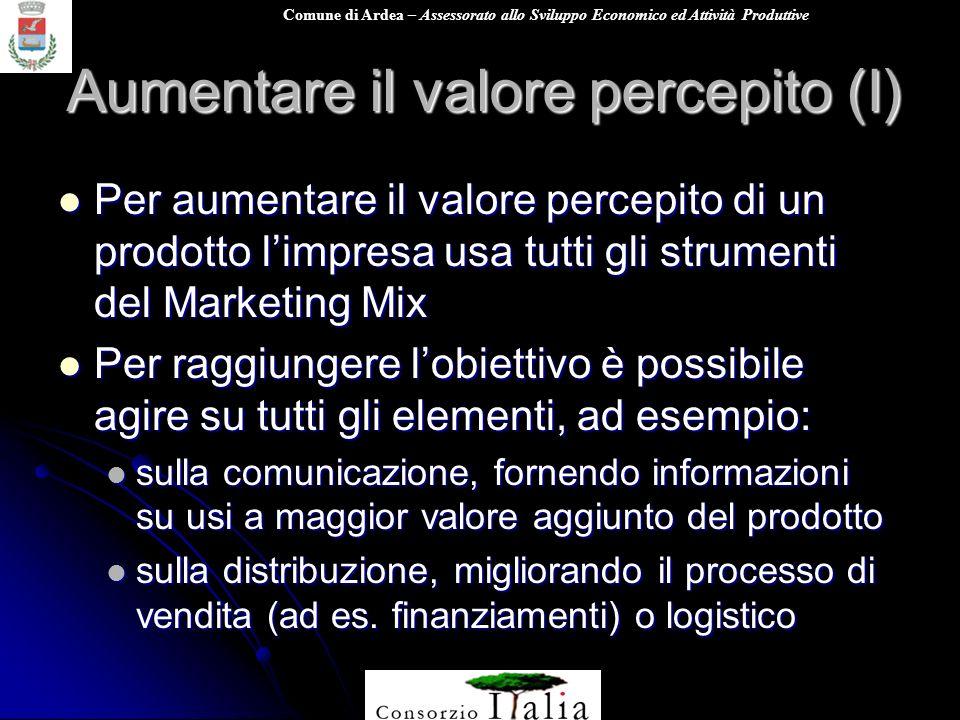 Aumentare il valore percepito (I)