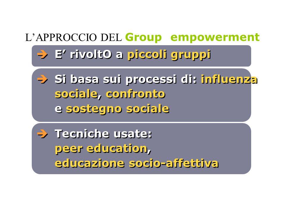L'APPROCCIO DEL Group empowerment