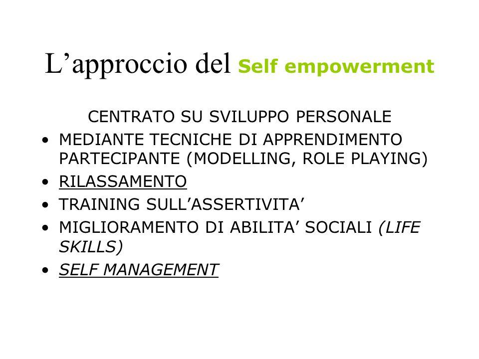L'approccio del Self empowerment