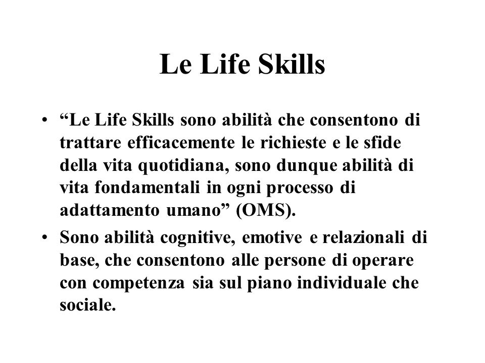 Le Life Skills