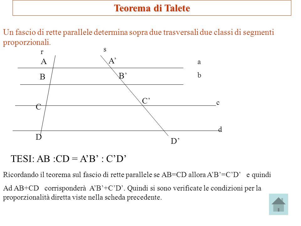 TESI: AB :CD = A'B' : C'D'