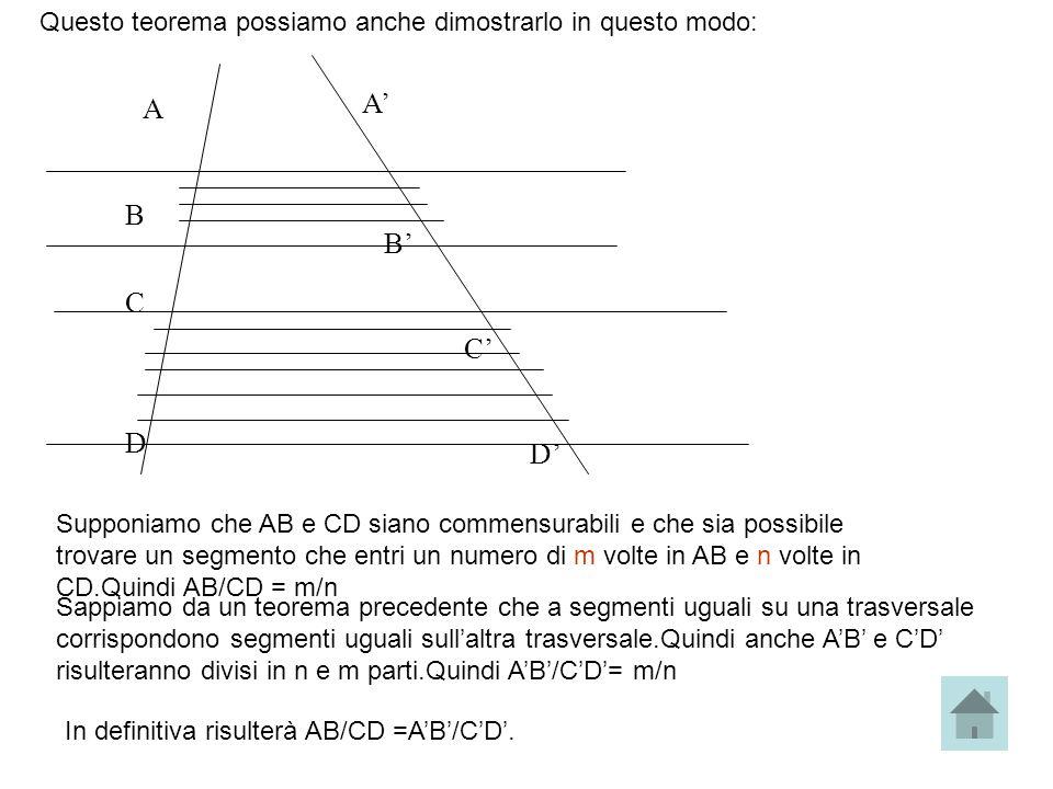 Questo teorema possiamo anche dimostrarlo in questo modo: