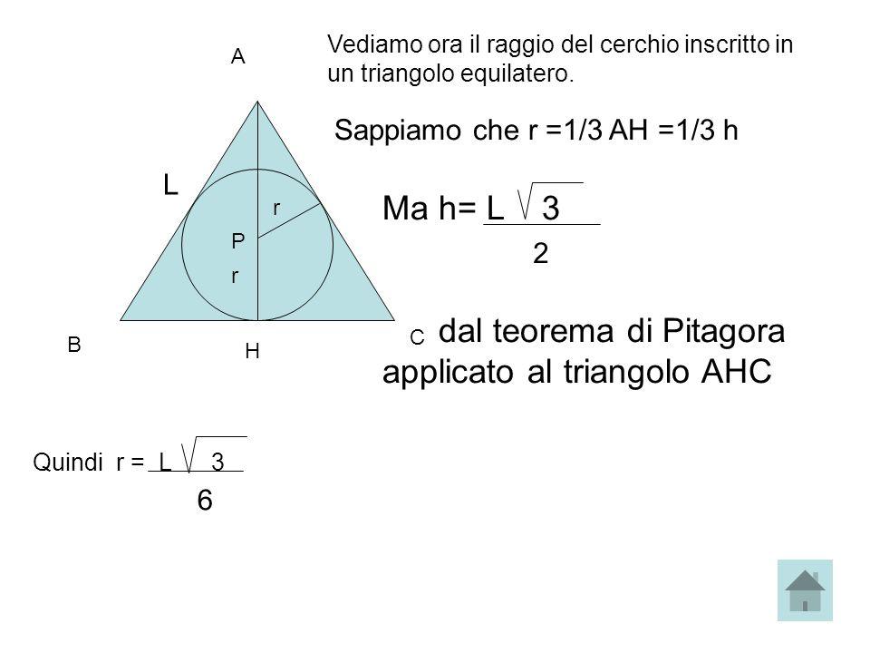 dal teorema di Pitagora applicato al triangolo AHC