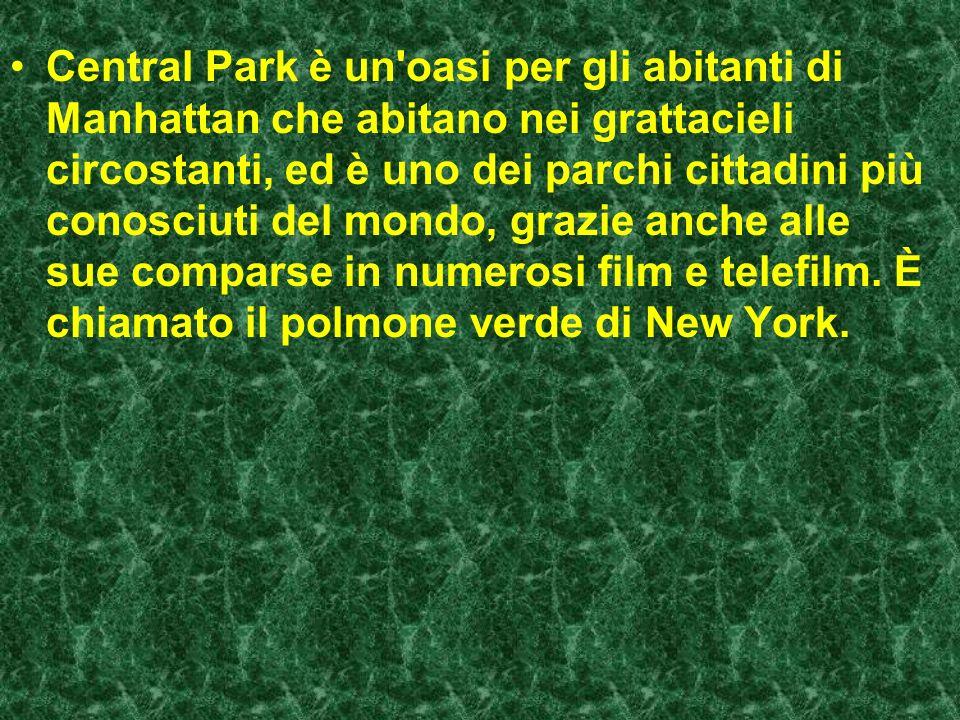 Central Park è un oasi per gli abitanti di Manhattan che abitano nei grattacieli circostanti, ed è uno dei parchi cittadini più conosciuti del mondo, grazie anche alle sue comparse in numerosi film e telefilm.