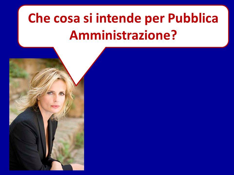 Che cosa si intende per Pubblica Amministrazione