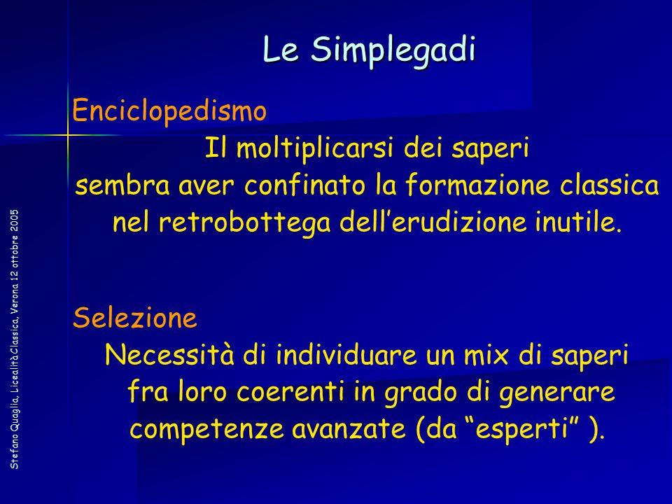 Le Simplegadi Enciclopedismo Il moltiplicarsi dei saperi