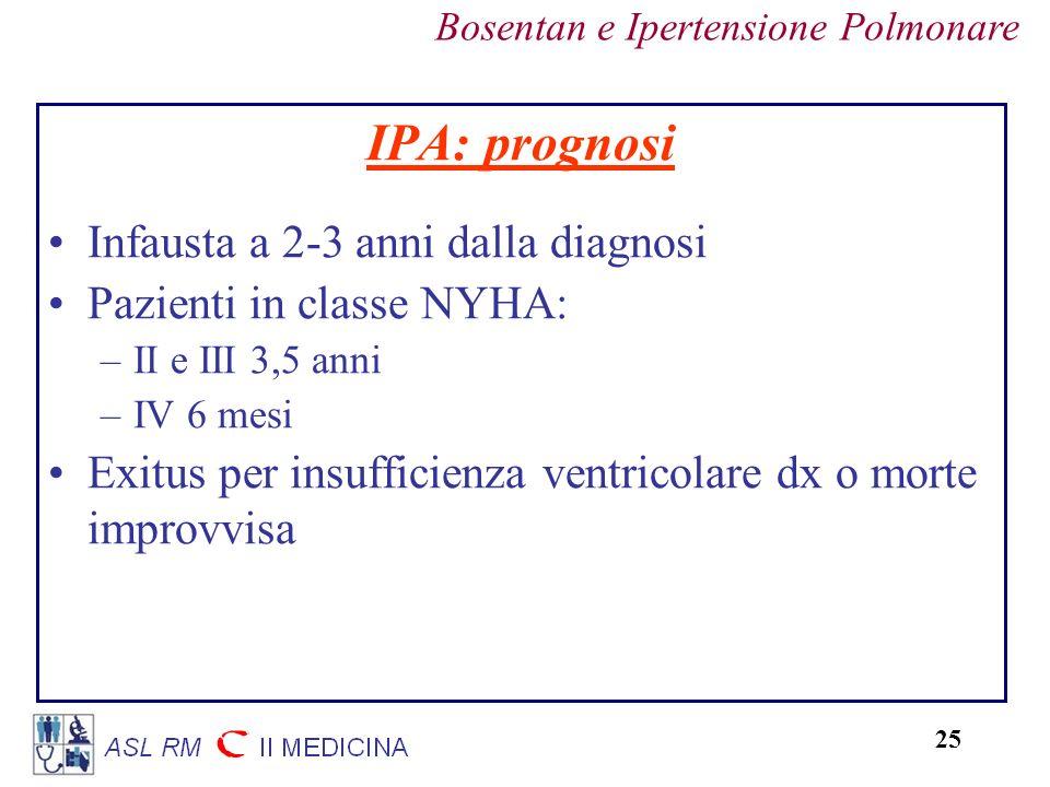 IPA: prognosi Infausta a 2-3 anni dalla diagnosi