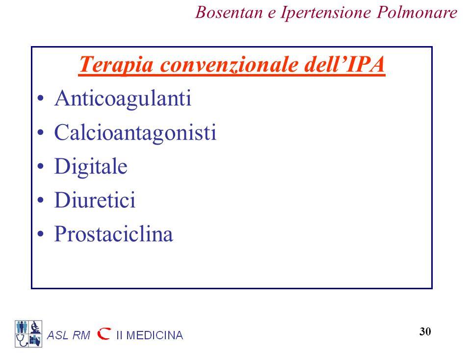 Terapia convenzionale dell'IPA