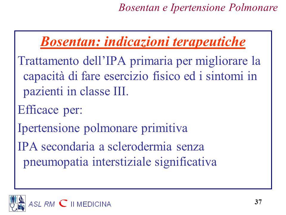 Bosentan: indicazioni terapeutiche