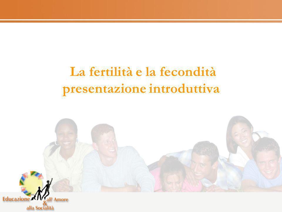 La fertilità e la fecondità presentazione introduttiva
