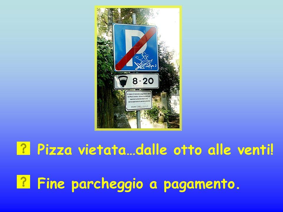Pizza vietata…dalle otto alle venti!