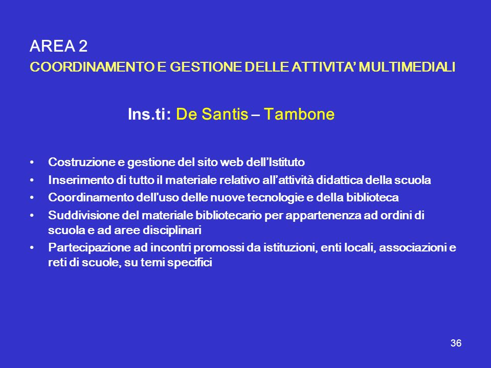 Ins.ti: De Santis – Tambone
