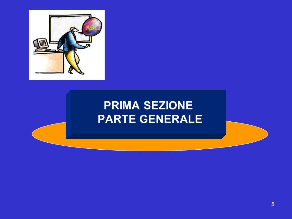 PRIMA SEZIONE PARTE GENERALE