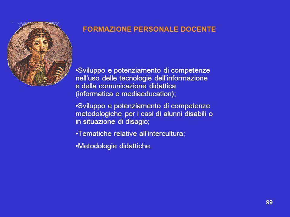 FORMAZIONE PERSONALE DOCENTE