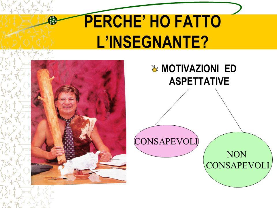 PERCHE' HO FATTO L'INSEGNANTE