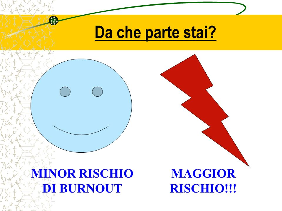 MINOR RISCHIO DI BURNOUT