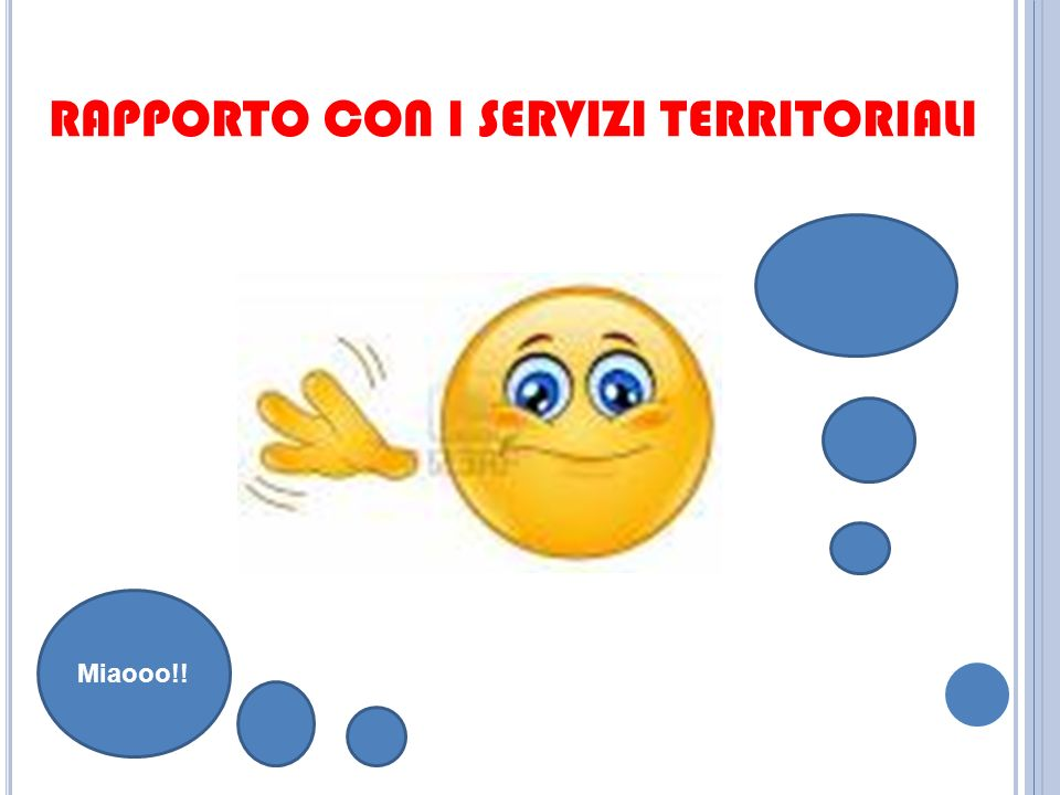 RAPPORTO CON I SERVIZI TERRITORIALI