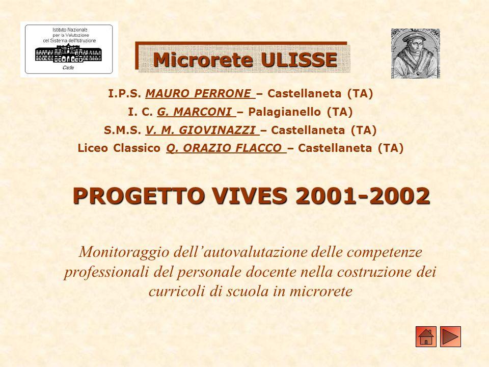 PROGETTO VIVES 2001-2002 Microrete ULISSE