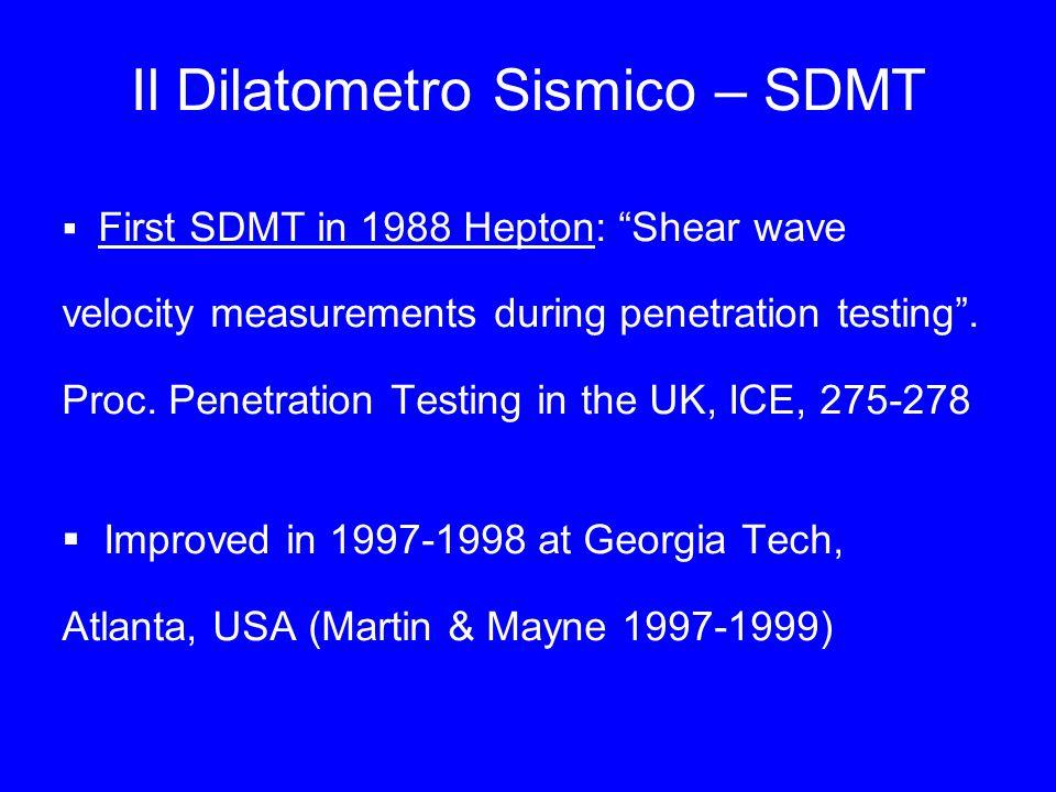 Il Dilatometro Sismico – SDMT
